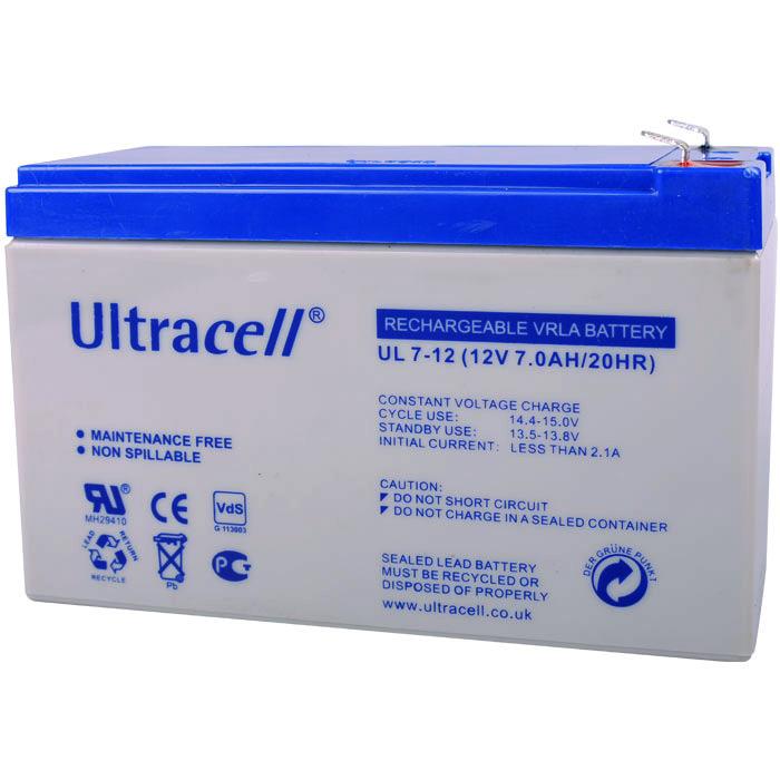 Μπαταρία μολύβδου UPS 12V 7Ah Ultracell 12V 7AH