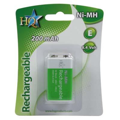 Επαναφορτιζόμενη μπαταρία HQ-NIMH-9V-01