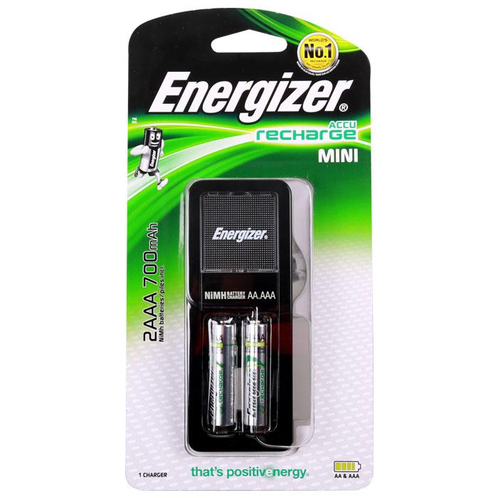 Φορτιστής μπαταριών 2 θέσεων Energizer Mini + 2 επαναφορτιζόμενες μπαταρίες ΑΑΑ
