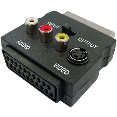 SCART 60 - Scart-RCA - S-Vid Adaptor