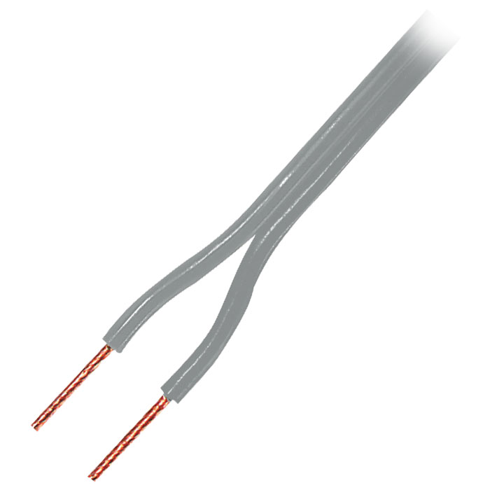 Grey speaker cable - LSP-021R 2X1