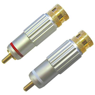 Βύσμα RCA audio αρσ 8mm - HQS-SCC 009