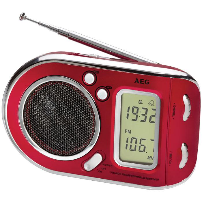 Ραδιόφωνο με ξυπνητήρι AEG WE 4125 RED