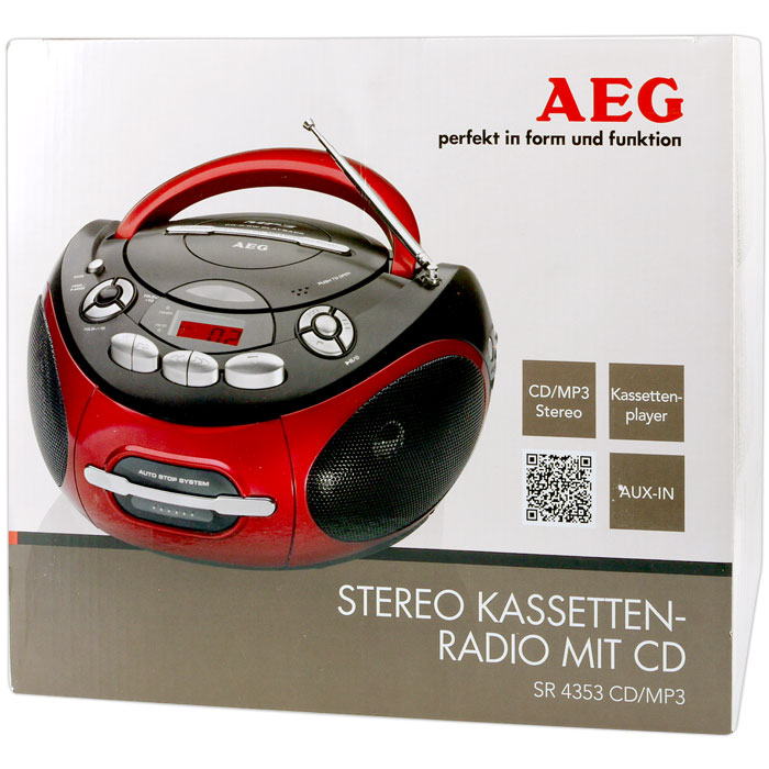 SR 4353 RED AEG  RADIO CD PLAYER  005536 AEG