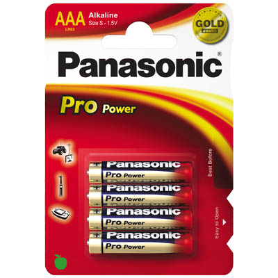 Μπαταρίες PANASONIC LR03PPG/4BP
