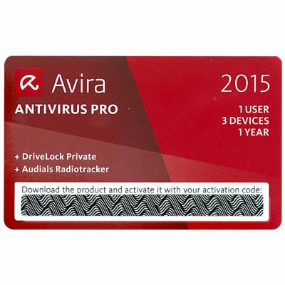 AVIRA ANTIVIRUS PRO 2015 SCRATCH CARD