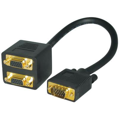 ΚΑΛΩΔΙΟ 560 SPLITTER VGA ΑΡΣ.-> 2x VGA ΘΗΛ.