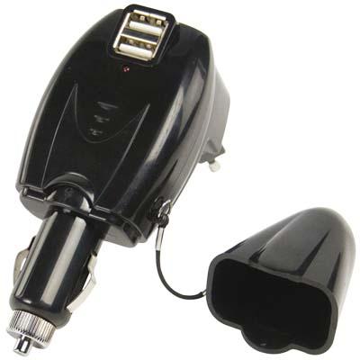 Φορτιστής με 2 USB θύρες P.SUP.USB 403