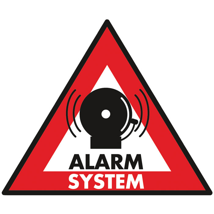 SEC-ST-AS Αυτοκόλλητο Alarm