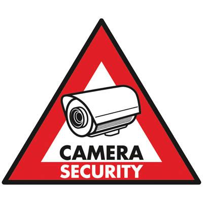 SEC-ST-CS - Αυτοκόλλητο Security Camera