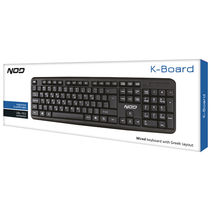 NOD KBD-004 NOD KEYBOARD USB & PS/2 NOD