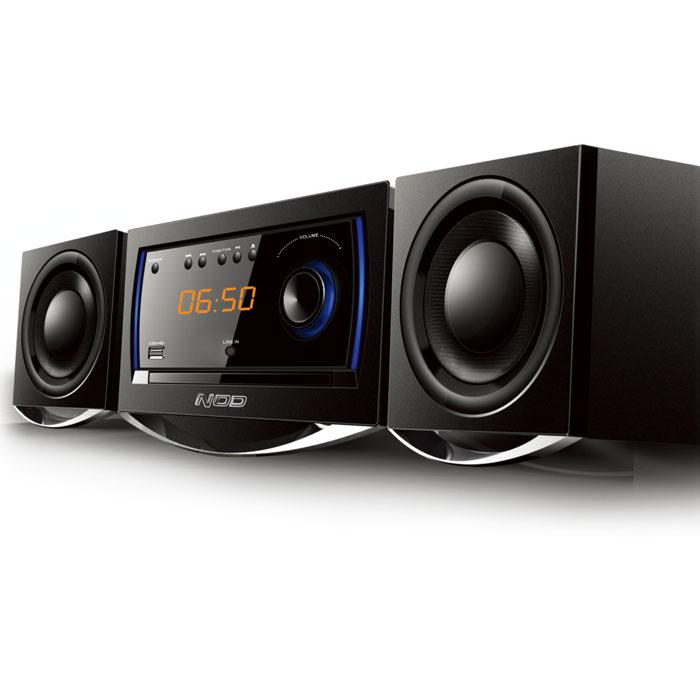 Mini Hi-Fi με CD player NOD MHS-001BL  FM-Bluetooth -USB