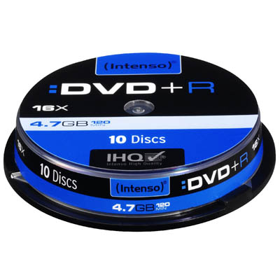 DVD+R 4,7GB, 16x Speed 10τεμ.