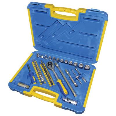 Εργαλειοθήκη με 45 εργαλεία - KINZO 29633