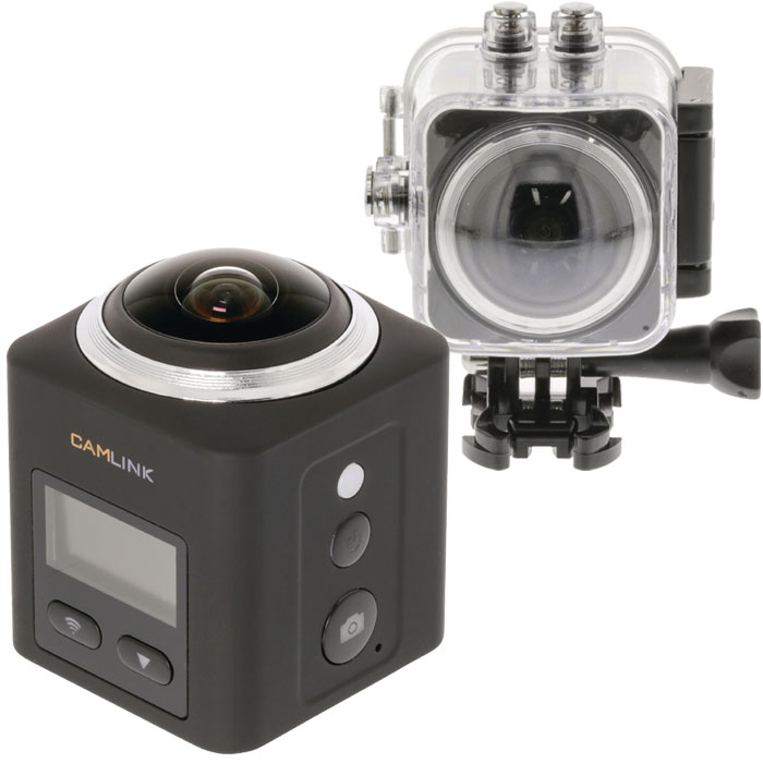 Action Camera CAMLINK CL-AC360 Full HD Action Camera 360° 2K