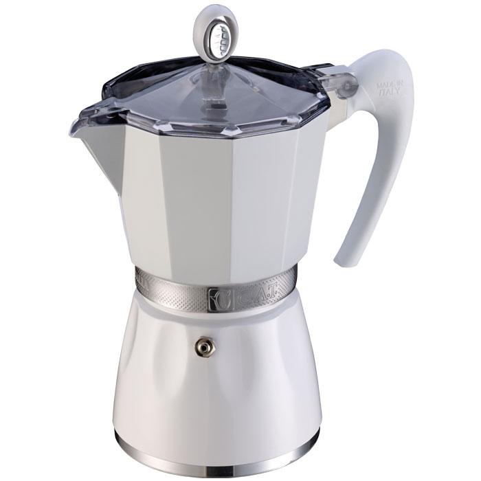 Ιταλική καφετιέρα espresso GAT 103803 WHITE BELLA 3 CUPS