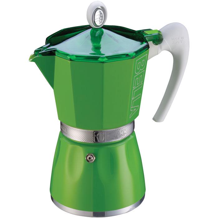 Ιταλική καφετιέρα espresso GAT 103803 GREEN BELLA 3 CUPS