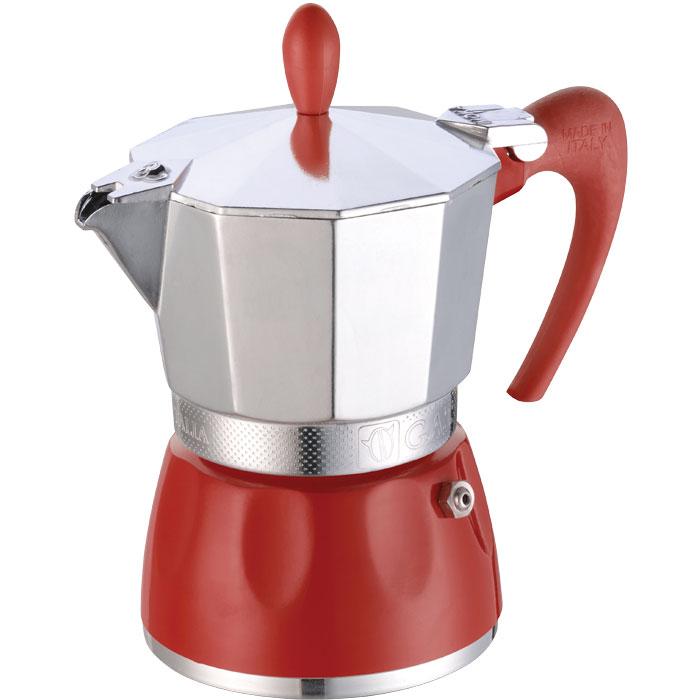 Ιταλική καφετιέρα espresso GAT 100003 RED DELIZIA 3 CUPS