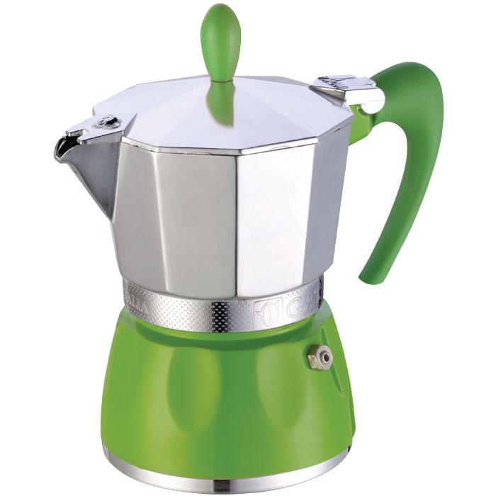Ιταλική καφετιέρα espresso GAT 100003 GREEN DELIZIA 3 CUPS