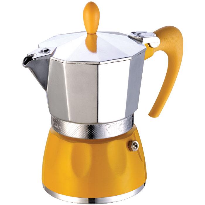 Ιταλική καφετιέρα espresso GAT 100003 YELLOW DELIZIA 3 CUPS