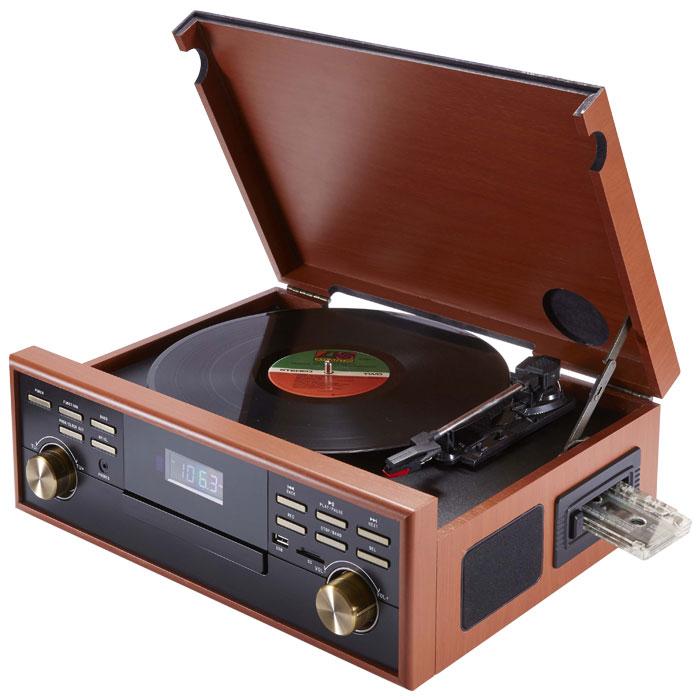 Ρετρό Πικάπ Big Ben TD113 Ραδιόφωνο / Κασετόφωνο / CD / MP3 / USB