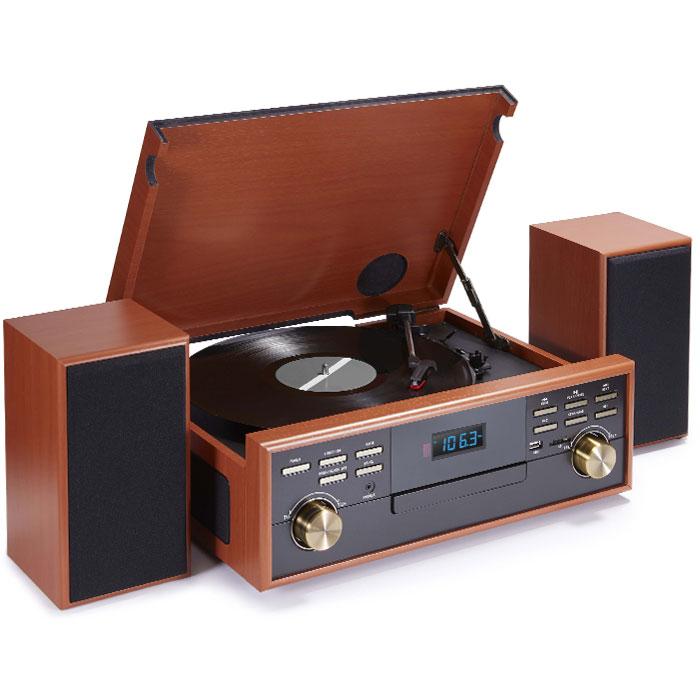 Ρετρό Πικάπ Bigben TD113SPS Ραδιόφωνο / Κασετόφωνο / CD / MP3 / USB