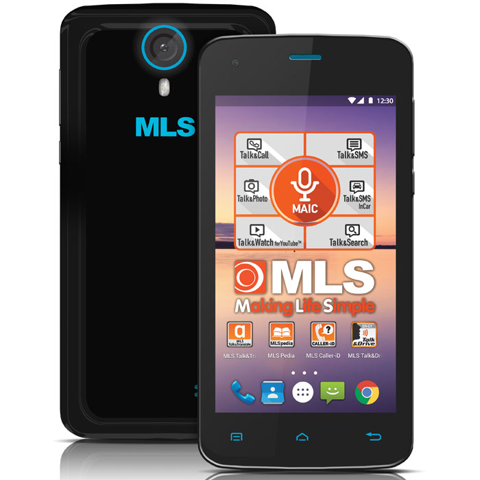 MLS COLOR MINI 4G BLACK DUAL SIM