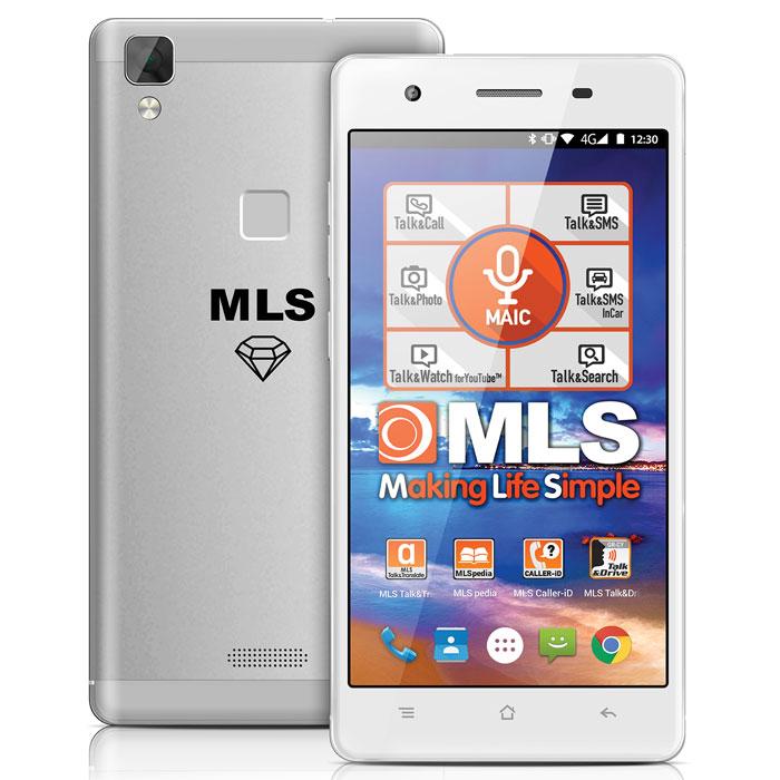MLS DIAMOND C8  4G 5 SILVER FP DUAL SIM