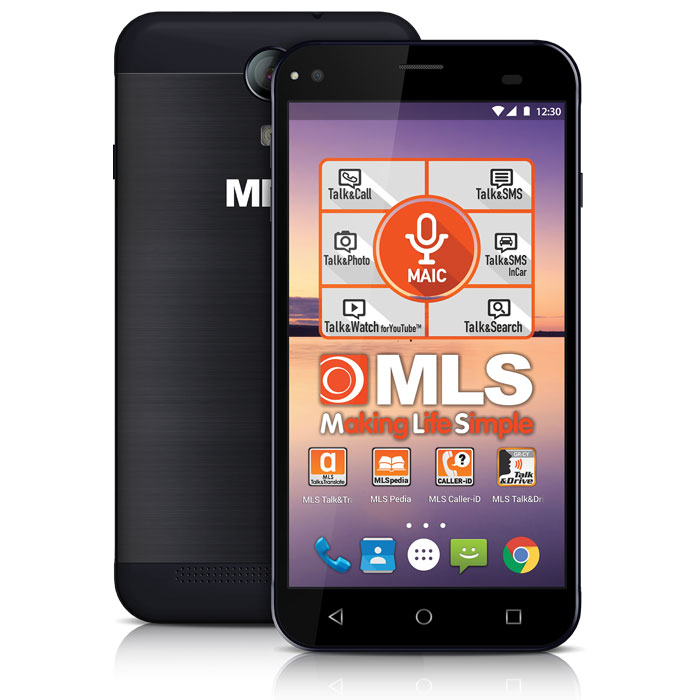 MLS ALU 3G BLACK DUAL SIM (5in)