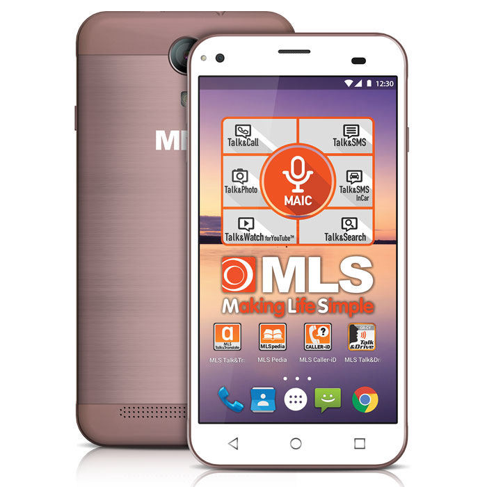 MLS ALU 3G ROSE/GOLD DUAL SIM (5in)