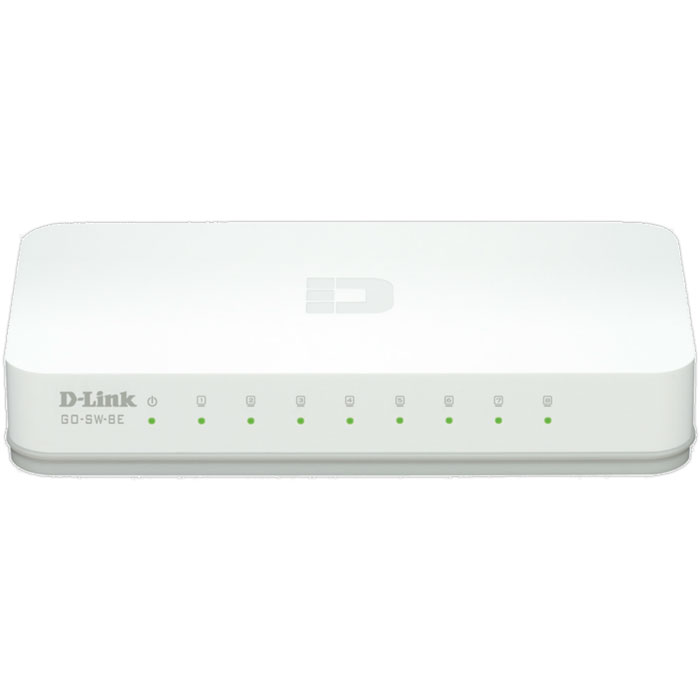 8-Port Fast Ethernet Easy Desktop Switch D-LINK GO-SW-8E 10/100