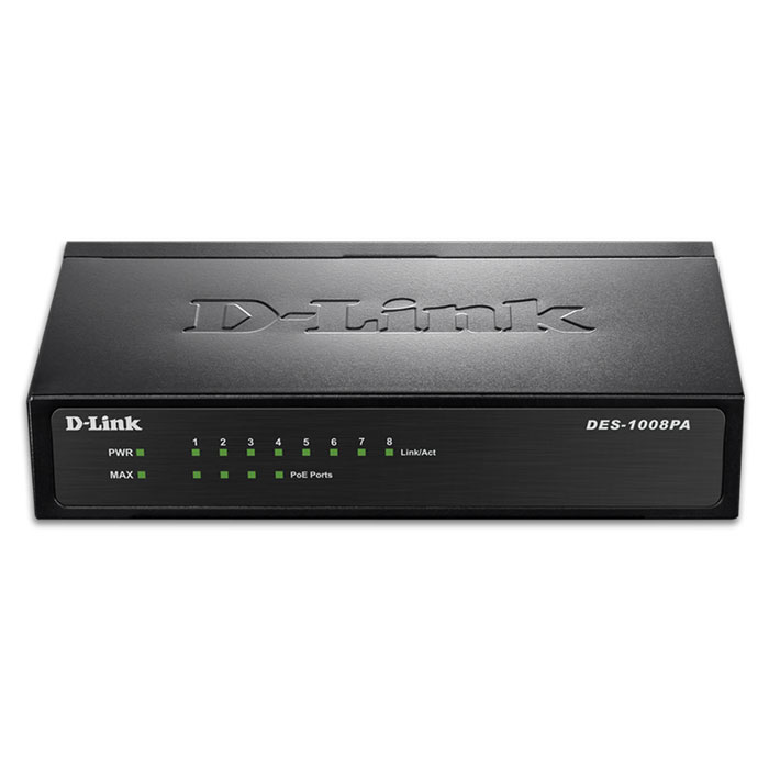 8-Port 10/100 PoE Desktop Switch D-LINK DES-1008PA