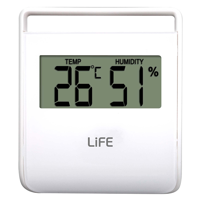 LIFE WES-102 Thermometer with hygrometer,White LIFE