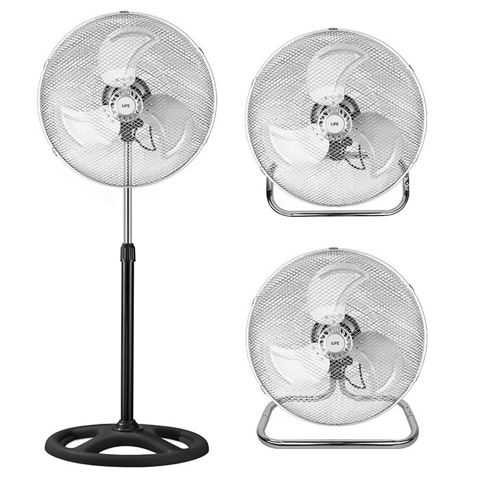 Ανεμιστήρας 3 σε 1 Life FS-300 Fan 3 in 1,stand/floor/wall mounted,50W