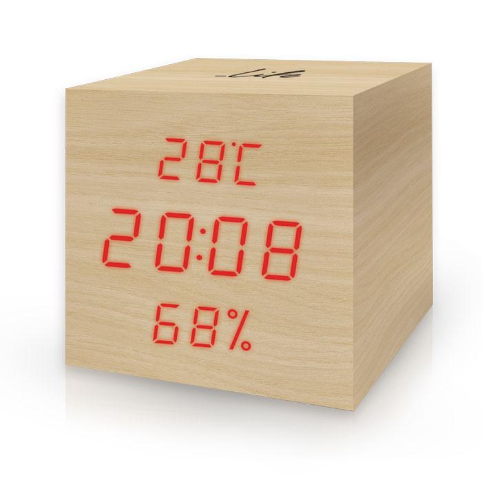 Ξύλινο ψηφιακό θερμόμετρο/υγρόμετρο LIFE WES-105