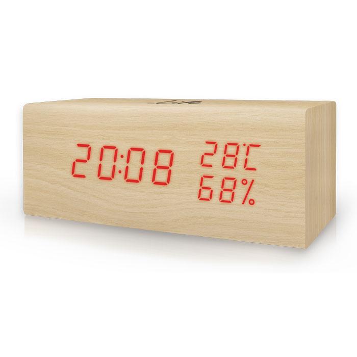 Ξύλινο ψηφιακό θερμόμετρο/υγρόμετρο LIFE WES-106