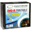 ESP DVD-R 4,7GB X16 PRINTABLE - SLIM CASE10 PCS